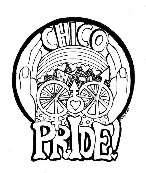 Chico Pride Coloring Book Illustration