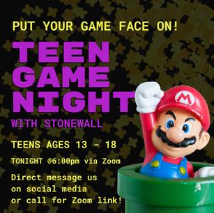 Teen Game Night Promo