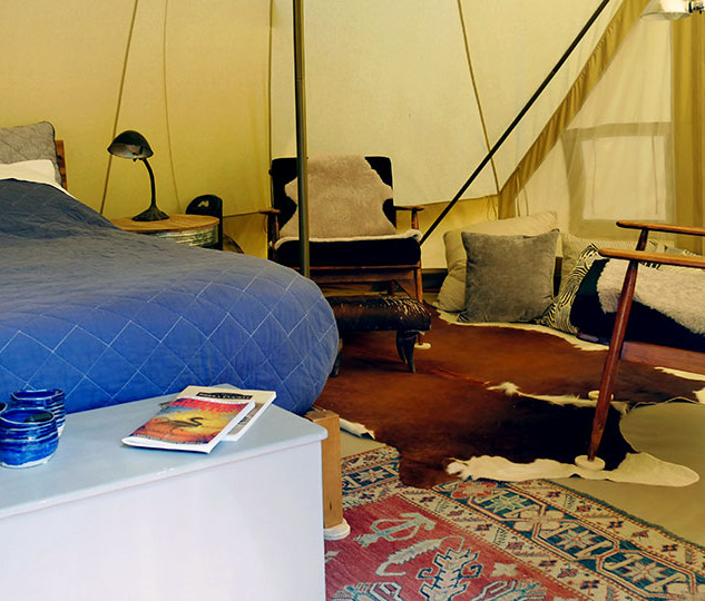 New Tent Interior Chairs and Bed1 July 2