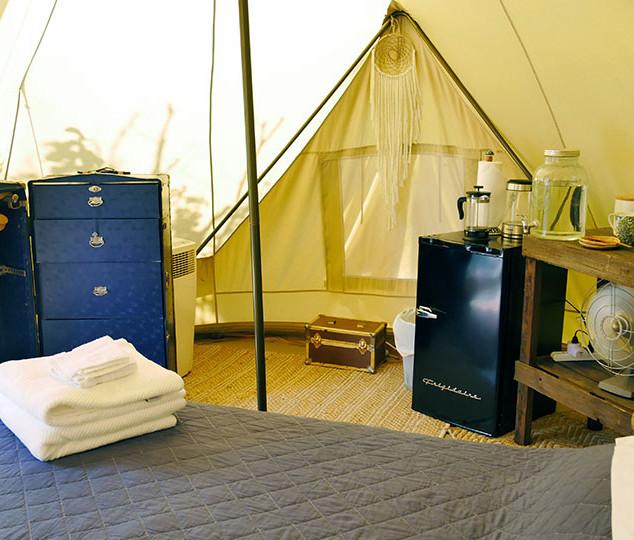 New Tent Interior fridge-dresser2 July 2
