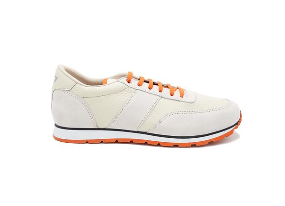 Sneaker La Cuir Blanc - Modèle Mixte