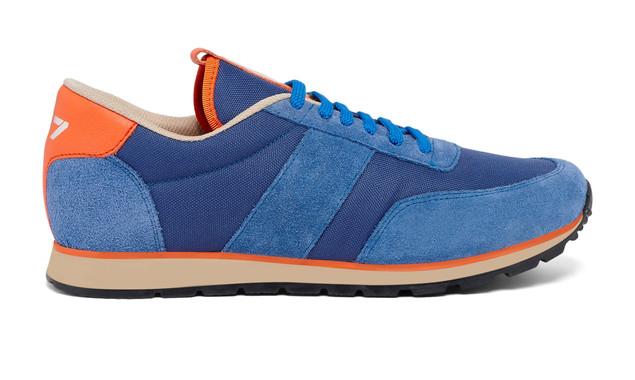 Sneaker 417 La Toile Azur bleu - Modèle Mixte