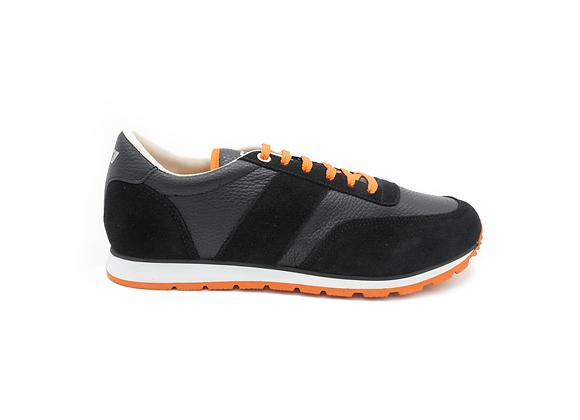 Sneaker La Cuir Noire - Modèle Mixte