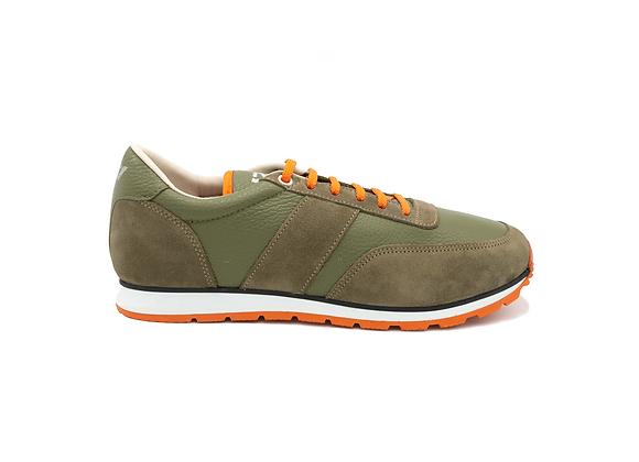 Sneaker La Cuir Kaki - Modèle Mixte
