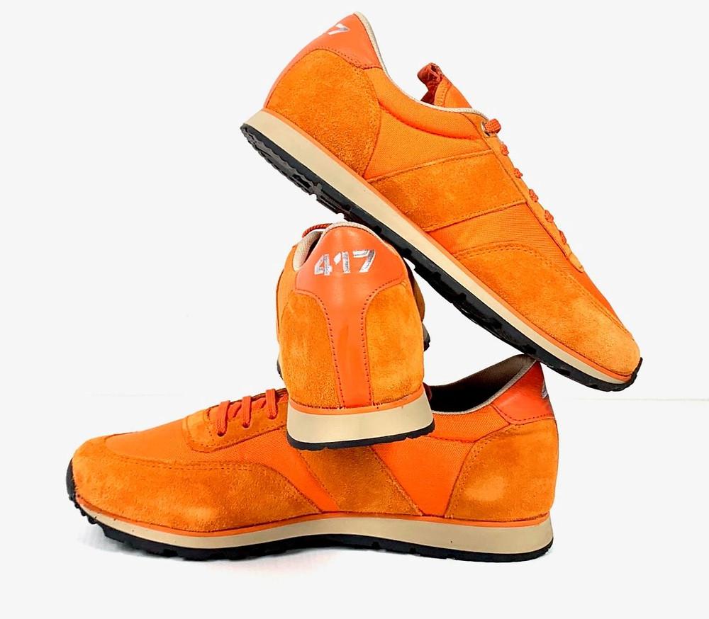 Sneaker 417 en toile orange mixte