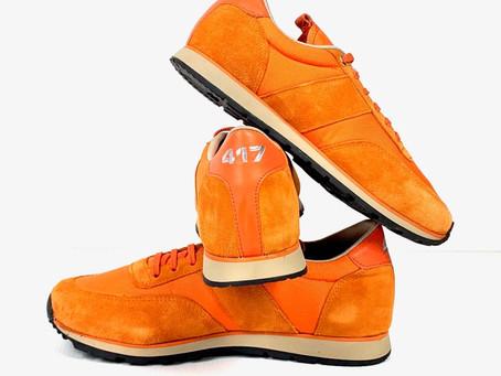 UZS vous présente sa sneaker 417 UZS en toile orange