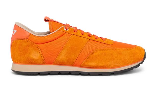 Sneaker 417 La Toile Orange - Modèle Mixte