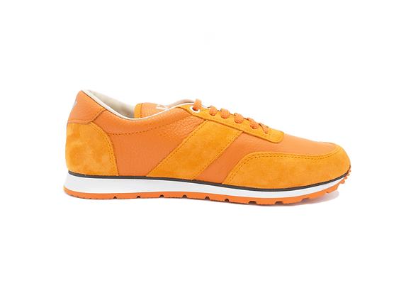 Sneaker La Cuir Orange - Modèle Mixte