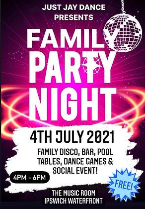 FREE FAMILY PARTY NIGHT!