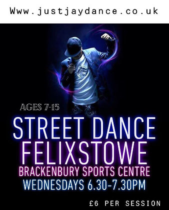 APRIL 14TH 2021 - FELIXSTOWE KIDS  STREET DANCE