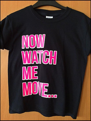 JUST JAY DANCE BLACK/PINK T SHIRT