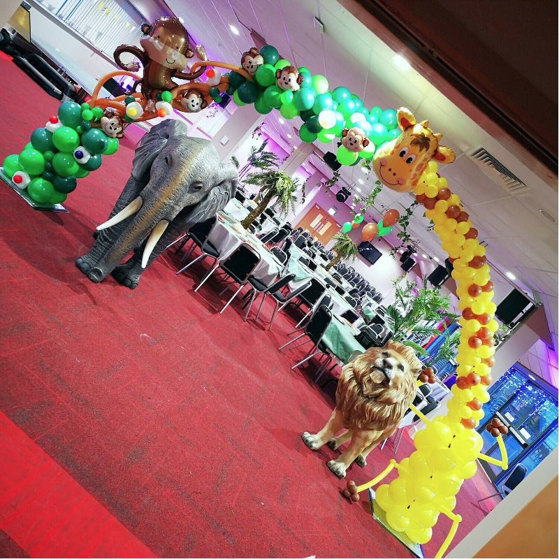 Jungle Themed Balloon Arch