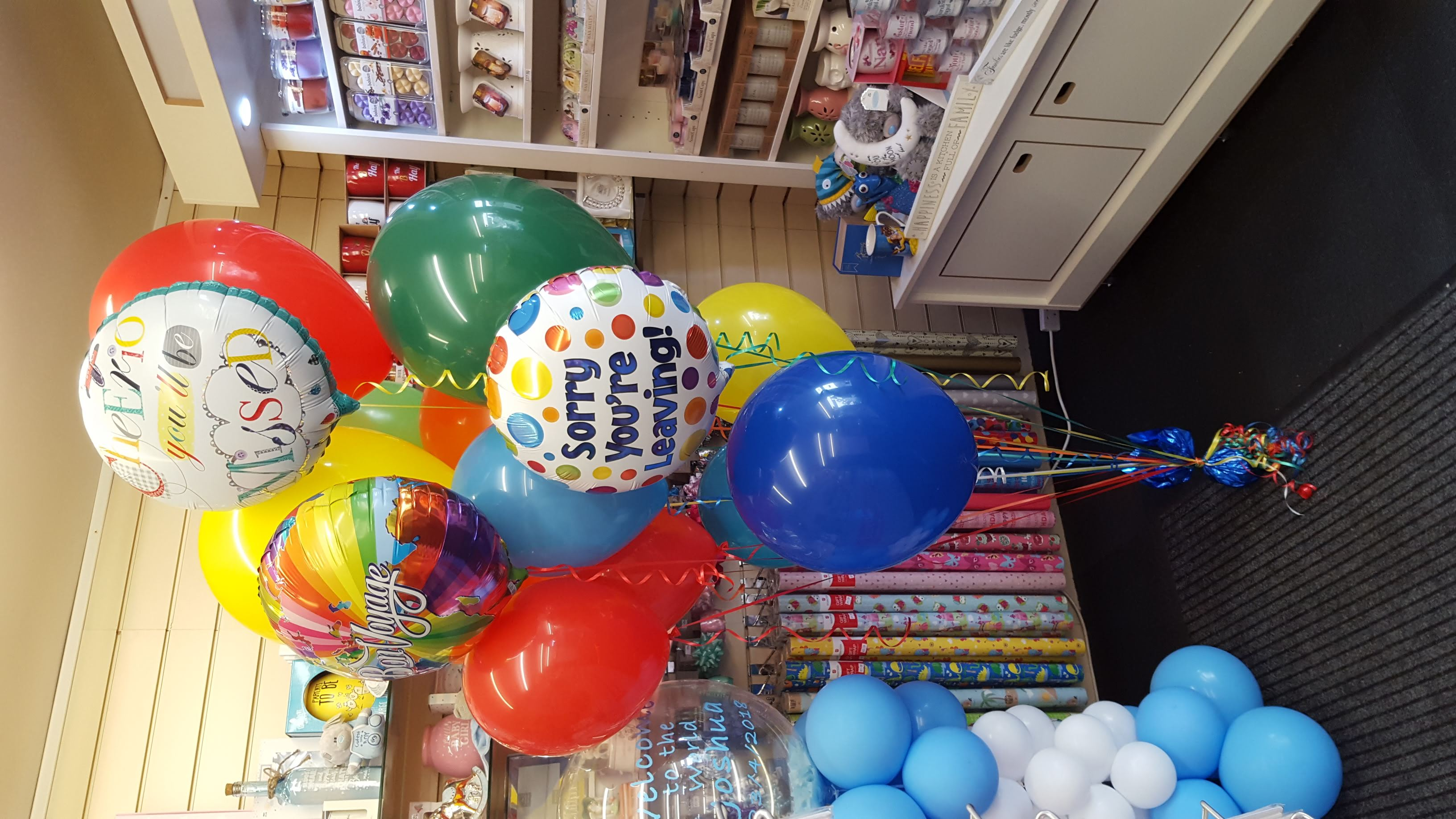 Leaving Bouquet of Balloons