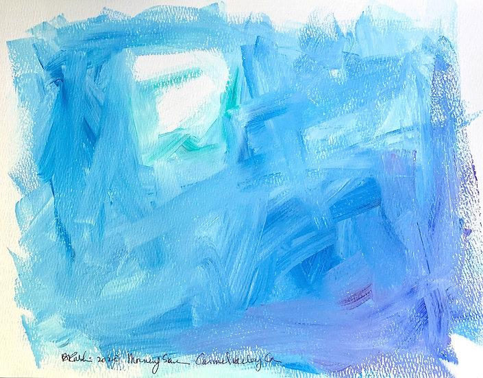 """Sun through Marine Layer""  Acrylic on paper 9x12"""