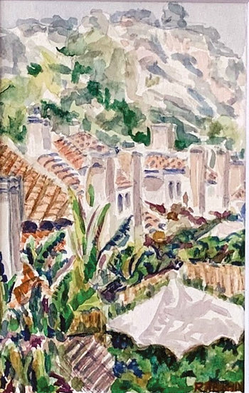 """A Carmel Valley View"" Watercolor on paper, 4x6"""