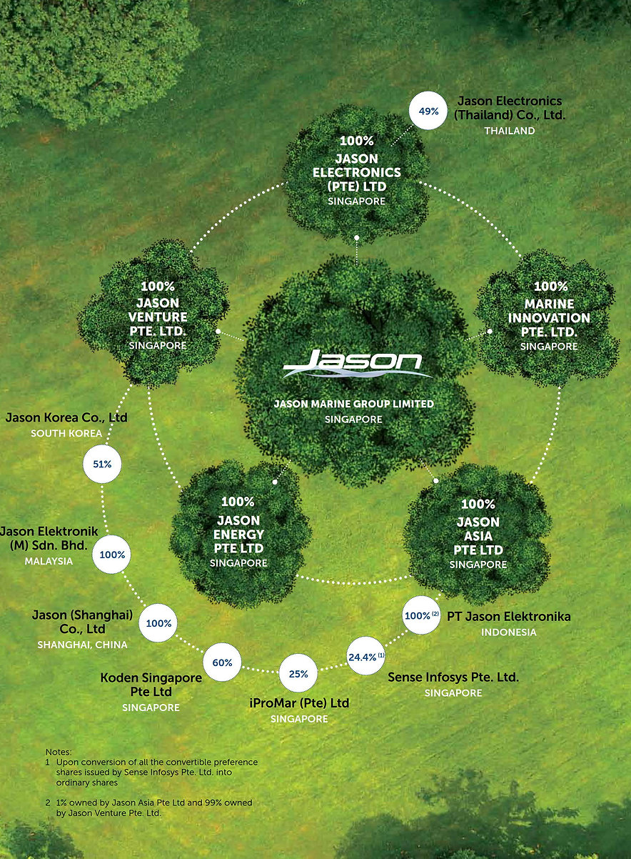 Corporate Structure of Jason Marine Group