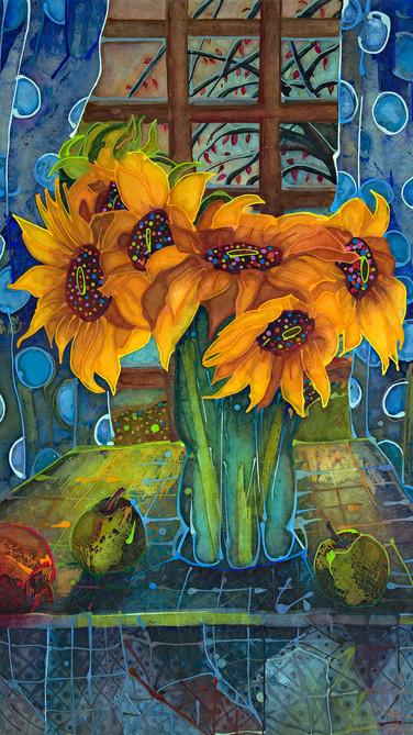 Sunflowers and Polkadots