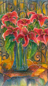 Lilies on the Balcony