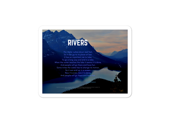 """Rivers"" Bubble-free Sticker"