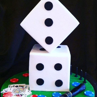 Dice Casino Cake