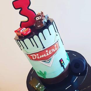 Dinsey Pixels Cars Buttercream  Drip Cake