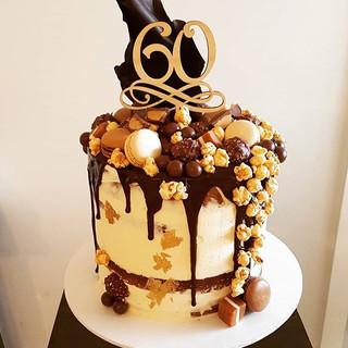 60th choc haven #dripcake