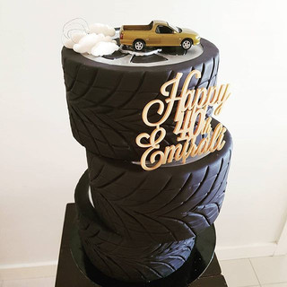 Tyres Car Cake Adult Cake