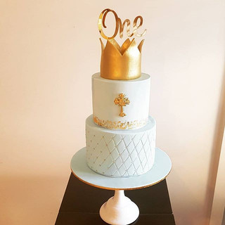 Crown Christening Cake