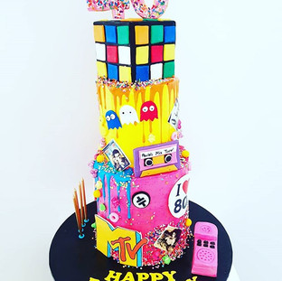 80s themed Cake