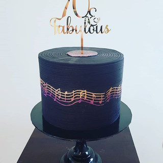 70th Music Cake