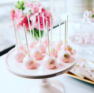 Pink and Gold  Cakepops