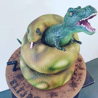 Snake Trex Cake