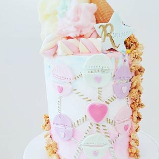 Carnival themed 6th Birthday Cake_._._._