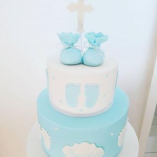 Blue Boy Christening Cake