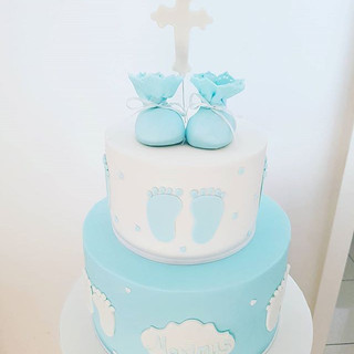 Blue Boy Christening Cake
