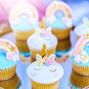 Unicorn Rainbow Cupcakes
