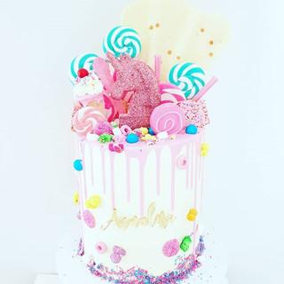 Candy Unicorn Cake