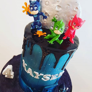 Pj Mask Buttercream  Drip Cake