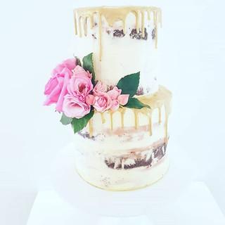 Drip Cake Christening Cake