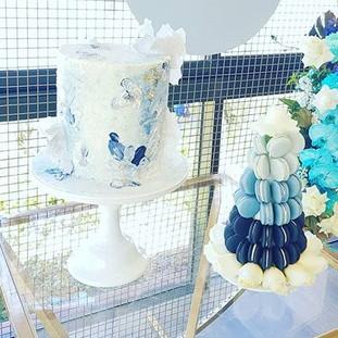 Blue Boy Baptism Cake