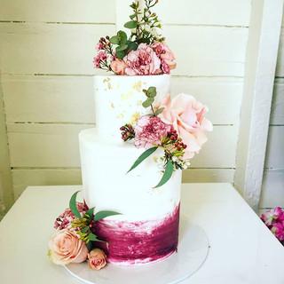 Burgandy Wedding / Engagement  Cake