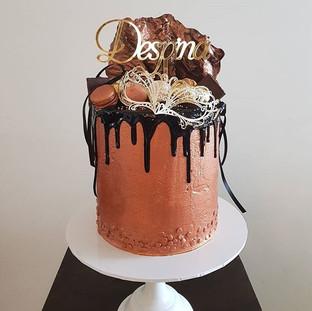 Masquerade Buttercream  Drip Cake