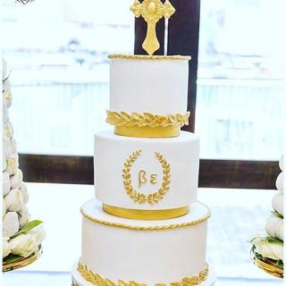Grecian Christening Cake