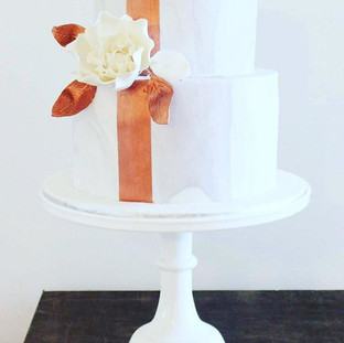 Marble and Copper Cake