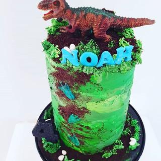 Dinosaur Drip Cake