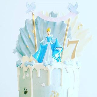 Cinderella Buttercream  Drip Cake