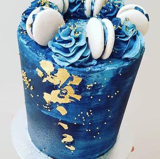 Navy Gold Cake