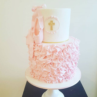 Ballerina Christening Cake