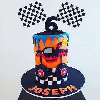 Monster Trucks Buttercream  Drip Cake