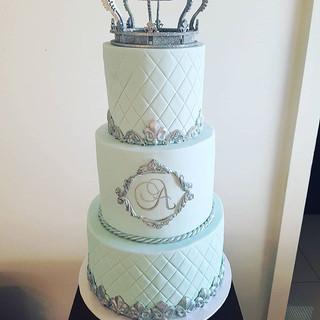 Crown Christening Cake